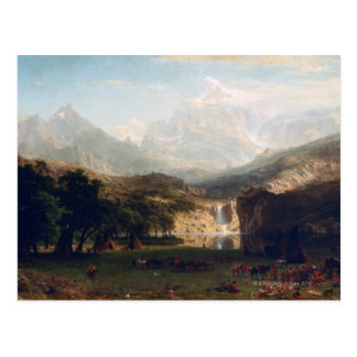 Cartão Postal As montanhas rochosas