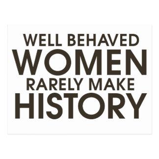 Cartão Postal As mulheres bem comportadas fazem raramente a