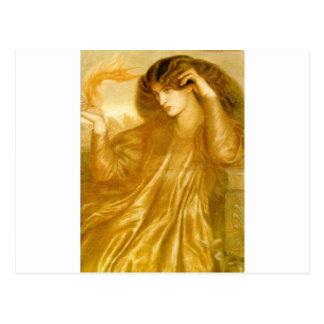 Cartão Postal As mulheres da chama por Dante Gabriel Rossetti