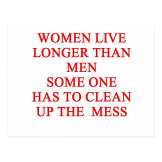 Cartão Postal as mulheres vivem mais por muito tempo