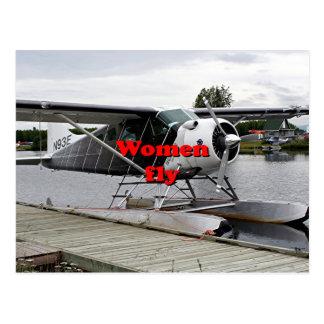 Cartão Postal As mulheres voam: plano 1 do flutuador, Alaska
