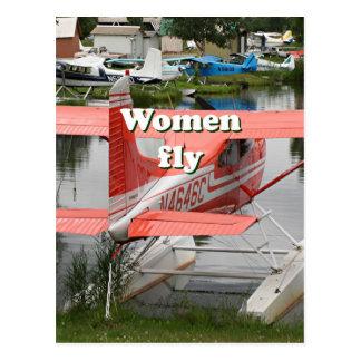 Cartão Postal As mulheres voam: plano 23 do flutuador, Alaska