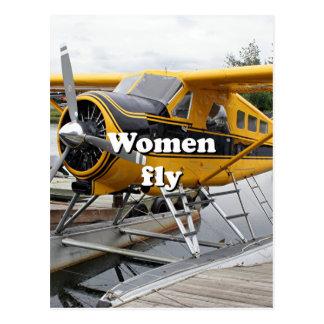 Cartão Postal As mulheres voam: plano do flutuador, capa do