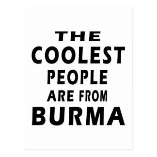 Cartão Postal As pessoas as mais frescas são de Burma
