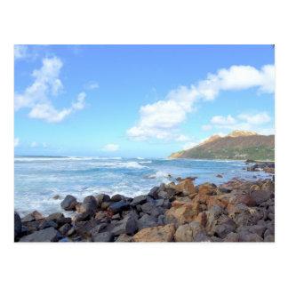 Cartão Postal As praias de Oahu