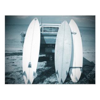 Cartão Postal As prancha do surf 3 quiver a prancha azul que