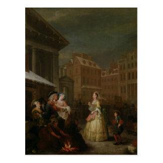 Cartão Postal As quatro horas do dia: Manhã, 1736