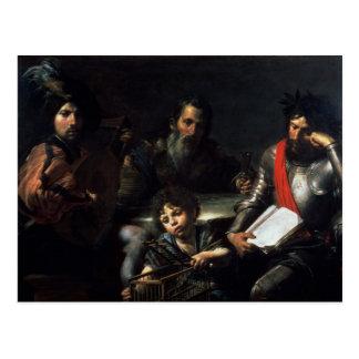 Cartão Postal As quatro idades do homem, c.1626-7