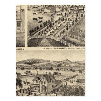 Cartão Postal As residências de Wm N Gladden e Sra. Ina B Miller