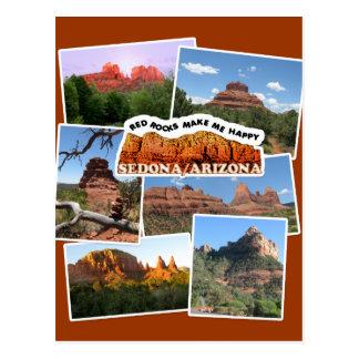 Cartão Postal As rochas vermelhas fazem-me feliz!