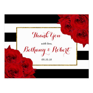 Cartão Postal As rosas vermelhas Luxe modernas chiques da