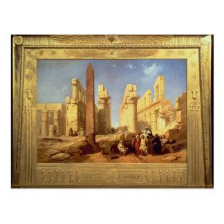 Cartão Postal As ruínas do palácio de Karnak em Thebes