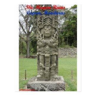 Cartão Postal As ruínas maias - Copan, Honduras
