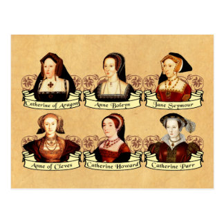 Cartão Postal As seis esposas do clássico de Henry VIII