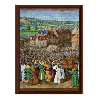 Cartão Postal As trombetas de Jericho por Fouquet Jean (o melhor