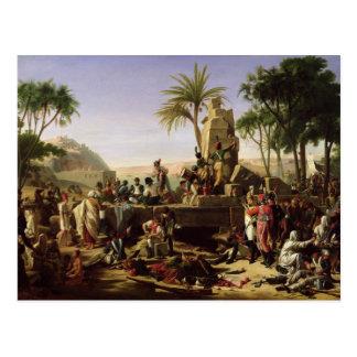 Cartão Postal As tropas pararam nos bancos do Nile