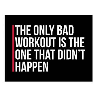 Cartão Postal As únicas citações más do Gym do exercício