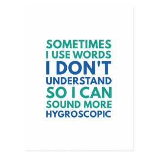 Cartão Postal Às vezes eu uso palavras