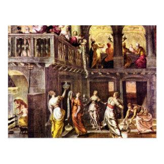Cartão Postal As virgens sábias e insensatas por Tintoretto