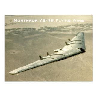 Cartão Postal Asa de vôo de Northrop YB-49