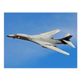 Cartão Postal Asas do bombardeiro do lanceiro de B-1B varridas