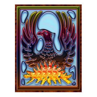 Cartão Postal Ascensão de Phoenix do fogo & das cinzas