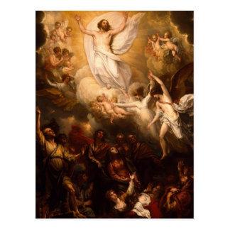 Cartão Postal Ascensão do cristo com anjos
