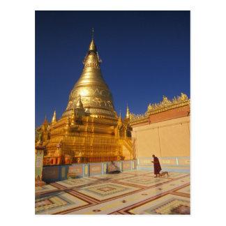 Cartão Postal Ásia, Burma (Myanmar) Mandalay, monte de Sagaing:
