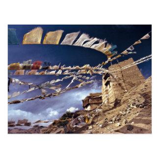 Cartão Postal Ásia, India, Ladakh, Leh. Sabido como pouco