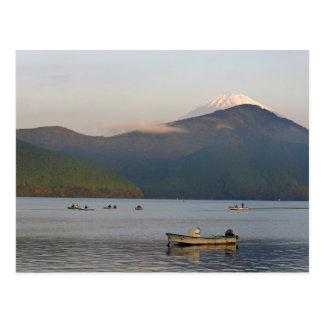 Cartão Postal Ásia, Japão, Hakone. Opiniões do amanhecer do Mt.