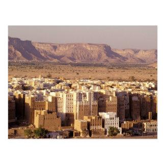 Cartão Postal Ásia, Médio Oriente, república de Yemen. Shibam
