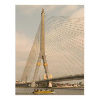 Cartão Postal Ásia, Tailândia, Banguecoque, ponte sobre Chao