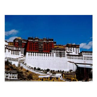 Cartão Postal Ásia, Tibet, Lhasa, vermelho 2 do palácio de