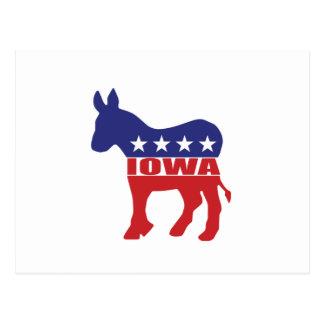 Cartão Postal Asno de Iowa Democrata