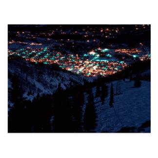 Cartão Postal Aspen na noite da parte superior da montanha de