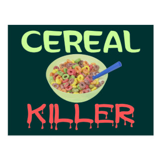 Cartão Postal Assassino do cereal