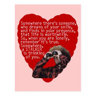 Cartão Postal Assediador - dia dos namorados engraçado