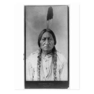 Cartão Postal Assento americano Bull do chefe indiano de Lakota
