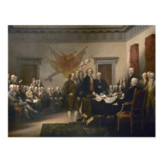 Cartão Postal Assinatura da declaração de independência