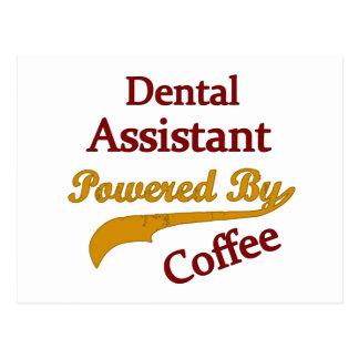Cartão Postal Assistente dental psto pelo café