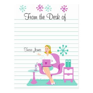 Cartão Postal Assistente pessoal