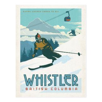 Cartão Postal Assobiador, Columbia Britânica