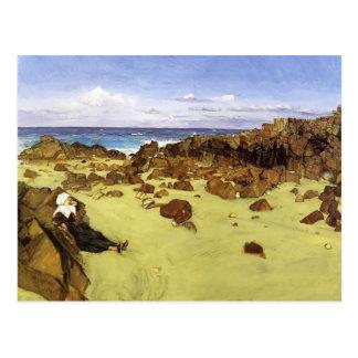 Cartão Postal Assobiador de James McNeill a costa de Brittany