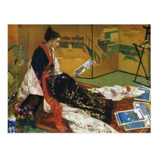 Cartão Postal Assobiador de James McNeill a tela dourada