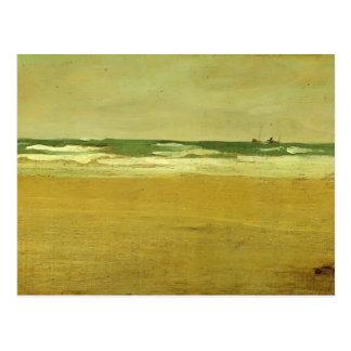 Cartão Postal Assobiador de James McNeill o mar irritado