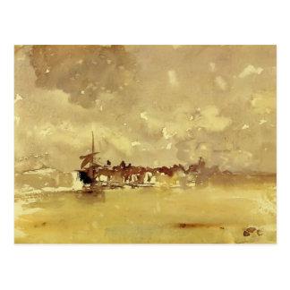 Cartão Postal Assobiador de James: O chá ensolarado - Dordrecht