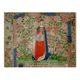 Cartão Postal Associado de rainha de Elizabeth Woodville do rei