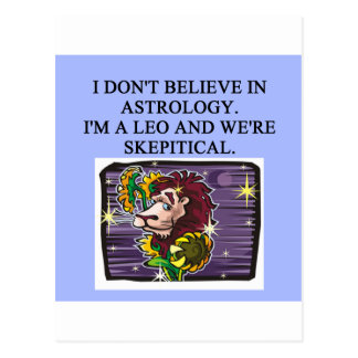 Cartão Postal Astrologia de LEO