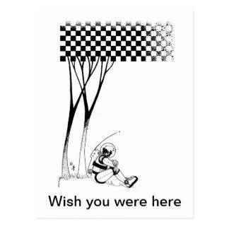 Cartão Postal Astronauta contemplativo