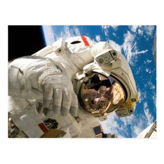 Cartão Postal Astronauta na descoberta do vaivém espacial da